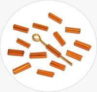 Czech rocailles bugles, orange, size 6,7x2mm, packing 25g