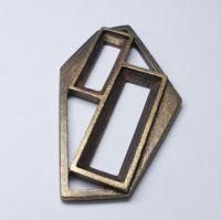 Kotlík dvojrám, obddélník pozlacený vel.21x7 a 30x10mm na skleněné kameny, balení po 1ks