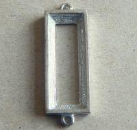 Kotlík obdélník surový na skleněné kameny 2očka vel.30x10mm, balení po 1ks