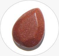 Avanturín-sluneční kámen,hnědý-hruška, vel.19,8x15x6,8mm, balení po 3 ks