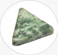 Zelený jaspis - trojúhelník, 17,5x20x4,5mmm, balení 3 ks