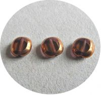 Machine polished beads 10x09mm, sm.topas with bronze, packing 10 pcs