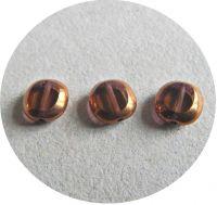 Korálky ploškované 10x09, kouř.topaz s bronzem, balení 10 ks