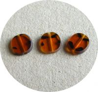 Machine polished beads 12x08mm, topas, packing 10 pcs