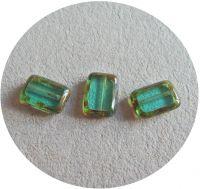 Machine polished beads 12x08mm, blue zircon with travertine, packing 10 pcs