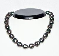 Perlový náhrdelník, tzv. Tahiti, délka 39 cm, vel.13x12mm