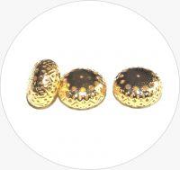 Iron filigree beads - hollow bead, gold, 13x22mm, packing 2 pcs