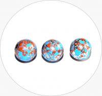 Akrylové korálky - postříbřené kuličky s barevným poprskem, 8mm, balení po 20 ks