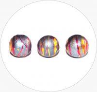 Akrylové korálky - šedé kuličky s barevným poprskem, 10mm, balení po 25 ks