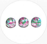 Akrylové korálky - postříbřené kuličky s barevným poprskem, 8mm, balení po 15 ks