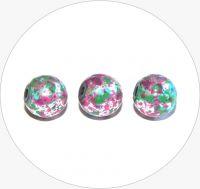 Akrylové korálky - postříbřené kuličky s barevným poprskem, 12mm, balení po 10 ks