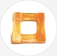 Glass pendants - topas glass square, 35x35x6mm, packing 1 pc
