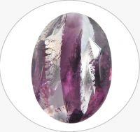 Glass stones, amethyst oval 18x13mm, packing 1pc