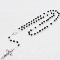 Catholic rosary fp 7mm jet STR52