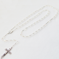 Catholic rosary crystal ab 6mm locklink