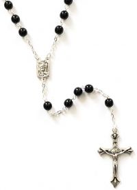 Catholic rosary 6mm round jet